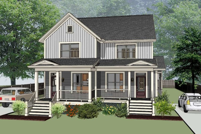 Dream House Plan - Southern Exterior - Front Elevation Plan #79-242