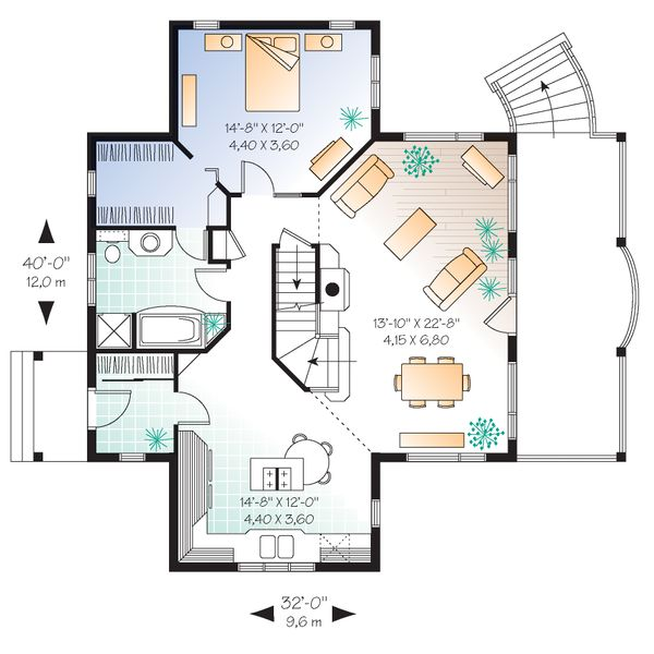 House Plan Design - Canadian country style house plan