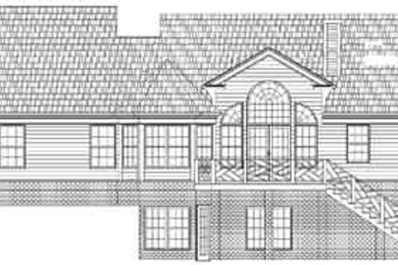 Colonial Exterior - Rear Elevation Plan #119-209 - Houseplans.com
