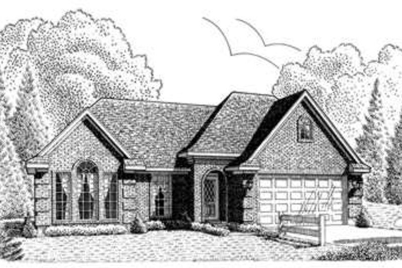 European Exterior - Front Elevation Plan #410-280 - Houseplans.com