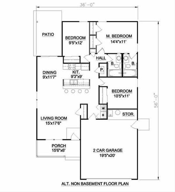 Traditional Floor Plan - Other Floor Plan #116-261