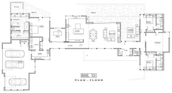 House Plan Design - Contemporary Floor Plan - Main Floor Plan #892-24