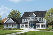 Southern Style House Plan - 4 Beds 2.5 Baths 2511 Sq/Ft Plan #57-230 Exterior - Front Elevation