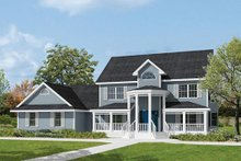 Dream House Plan - Southern Exterior - Front Elevation Plan #57-230