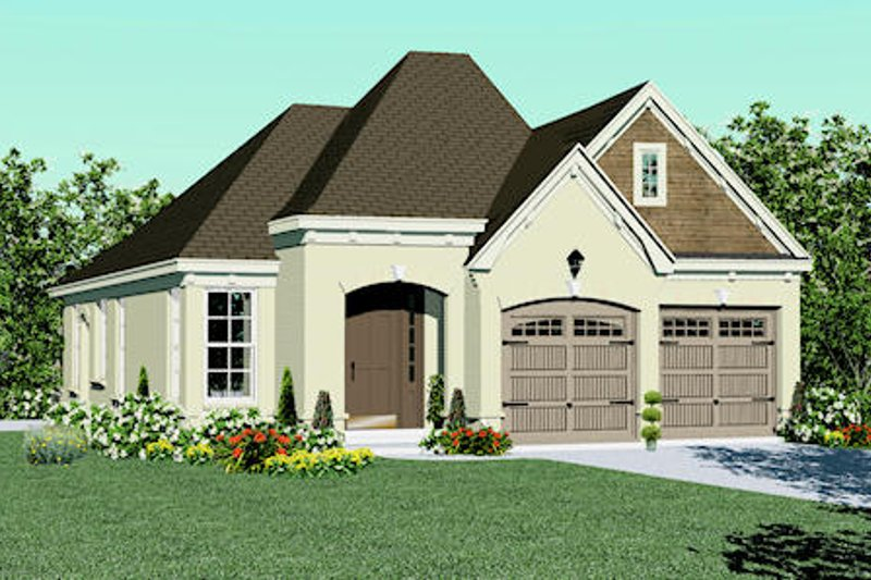 European Style House Plan - 3 Beds 2 Baths 1468 Sq/Ft Plan #81-13835 Exterior - Front Elevation