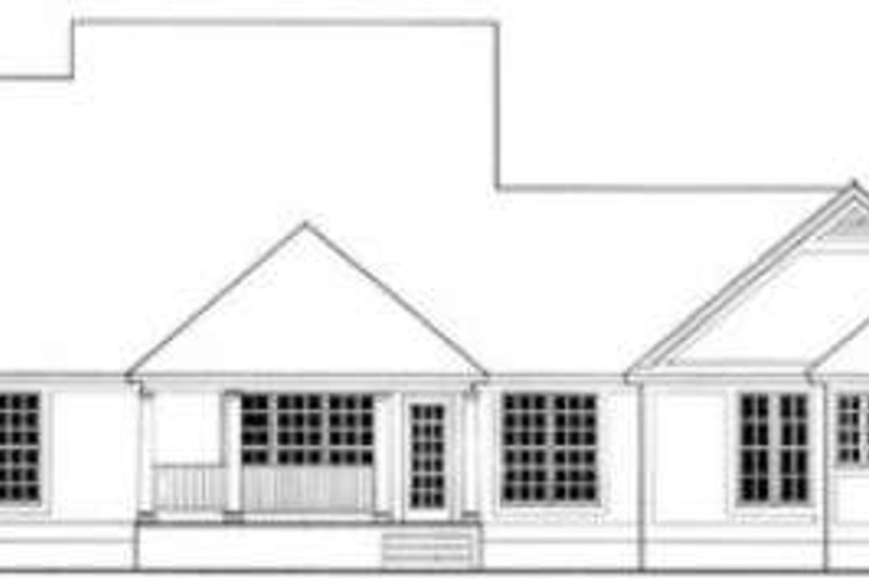 Southern Exterior - Rear Elevation Plan #406-193 - Houseplans.com