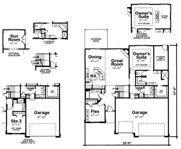 House Plan Design - Traditional Floor Plan - Main Floor Plan #20-2083