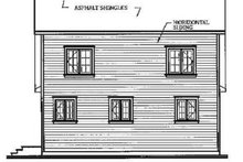 Cottage Exterior - Rear Elevation Plan #23-2018