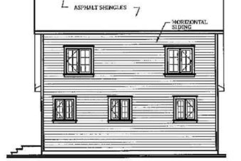 Cottage Exterior - Rear Elevation Plan #23-2018 - Houseplans.com