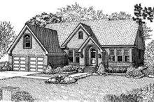 Dream House Plan - European Exterior - Front Elevation Plan #410-319