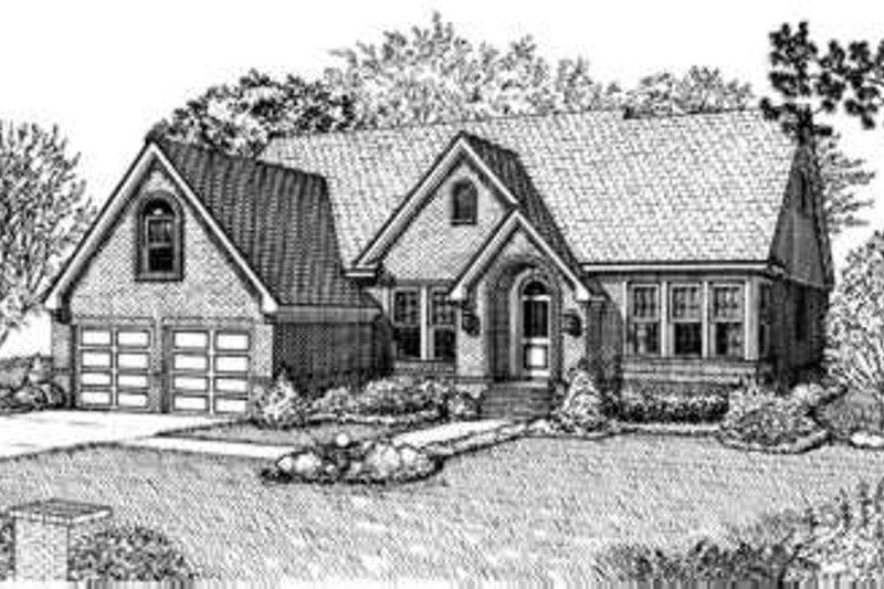 Home Plan - European Exterior - Front Elevation Plan #410-319