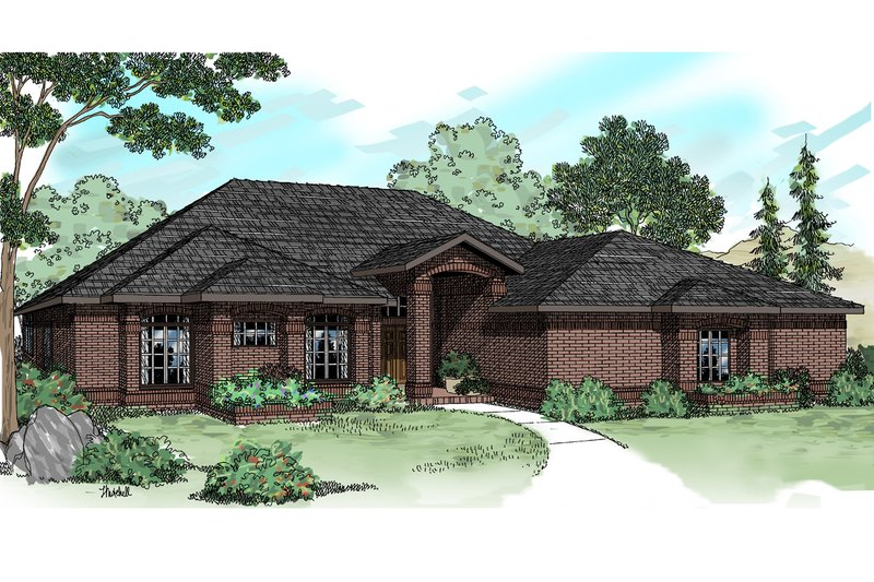Traditional Exterior - Front Elevation Plan #124-184