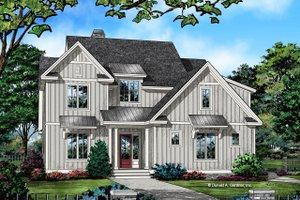 Architectural House Design - Farmhouse Exterior - Front Elevation Plan #929-1064