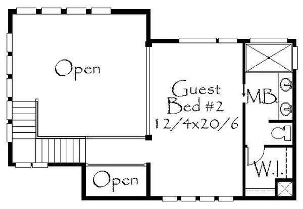 Prairie Floor Plan - Upper Floor Plan Plan #509-63