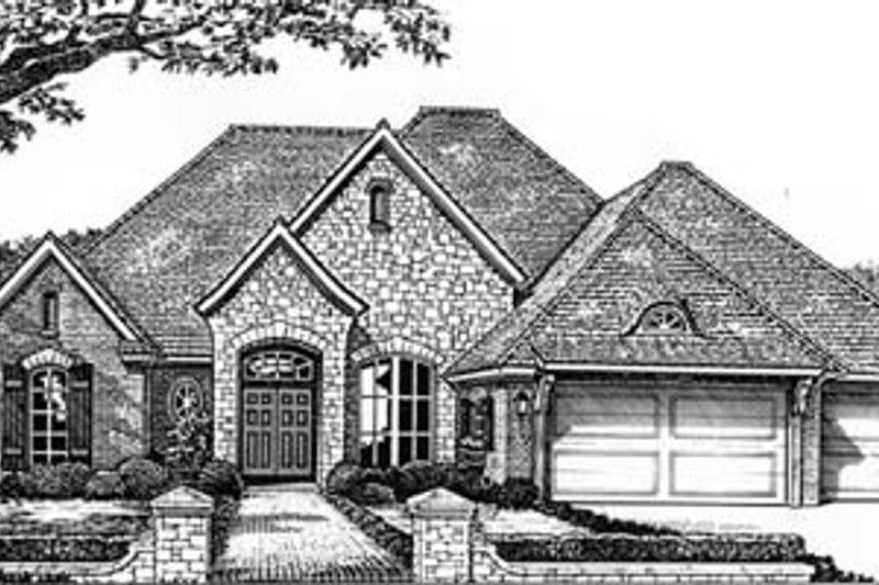 Architectural House Design - European Exterior - Front Elevation Plan #310-536