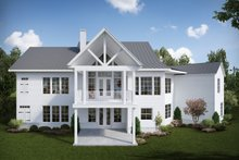 Dream House Plan - Farmhouse Exterior - Rear Elevation Plan #54-384
