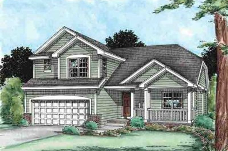 Traditional Exterior - Front Elevation Plan #20-1518 - Houseplans.com