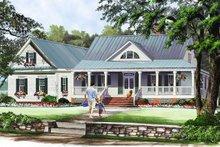 Architectural House Design - Farmhouse Exterior - Front Elevation Plan #137-376