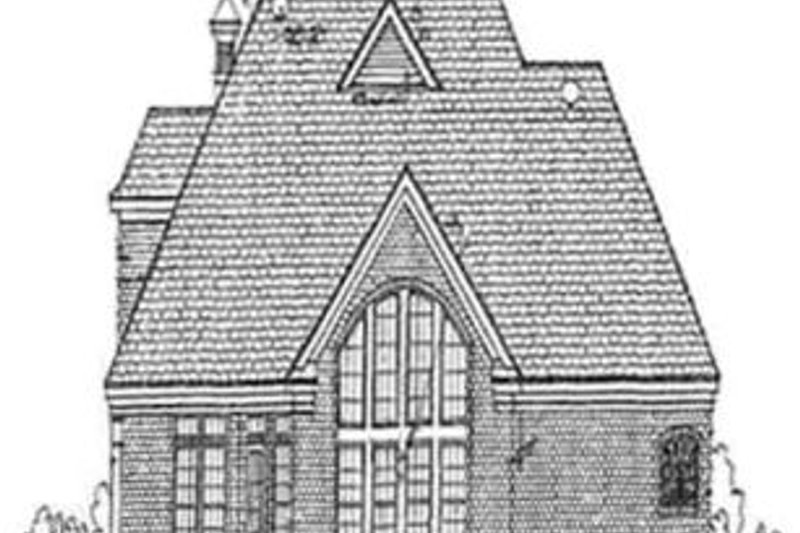 European Exterior - Rear Elevation Plan #34-148 - Houseplans.com