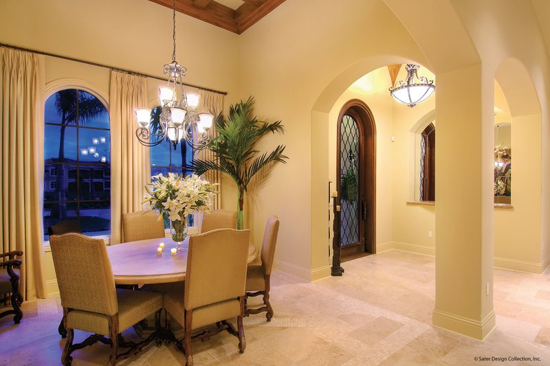 Mediterranean Interior - Dining Room Plan #930-13 - Houseplans.com