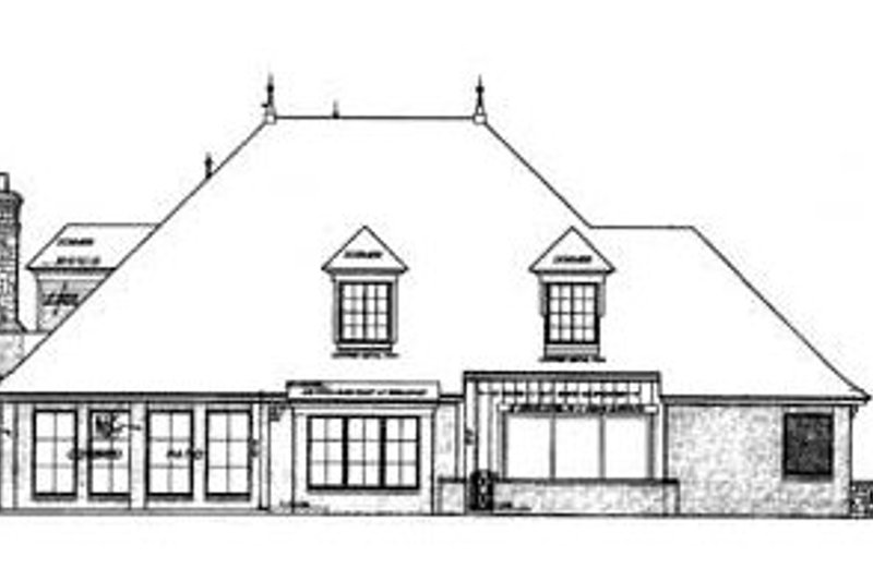 European Exterior - Rear Elevation Plan #310-326 - Houseplans.com