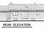 Ranch Style House Plan - 2 Beds 1.5 Baths 1129 Sq/Ft Plan #18-9075 Exterior - Rear Elevation