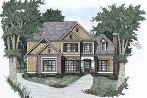 Architectural House Design - Traditional Exterior - Front Elevation Plan #129-103