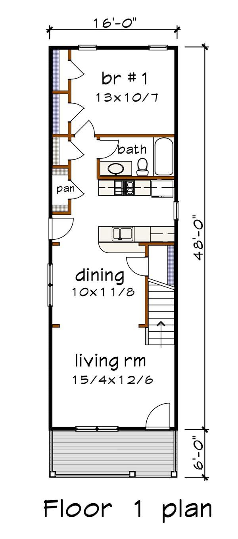 Bungalow Floor Plan - Main Floor Plan #79-312