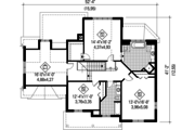 European Style House Plan - 3 Beds 2 Baths 2806 Sq/Ft Plan #25-4798 Floor Plan - Upper Floor Plan