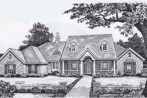 Farmhouse Exterior - Front Elevation Plan #310-834