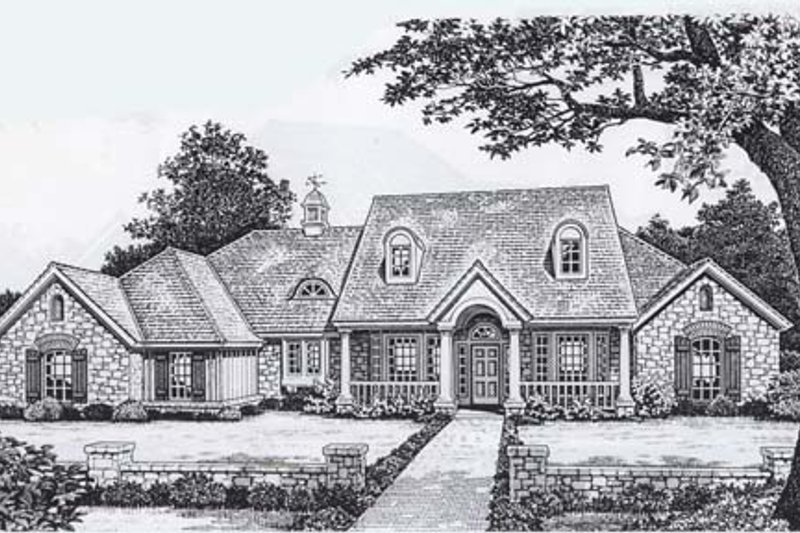 Farmhouse Style House Plan - 3 Beds 2.5 Baths 2496 Sq/Ft Plan #310-834 Exterior - Front Elevation