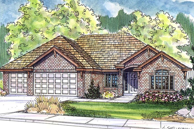 Exterior - Front Elevation Plan #124-477