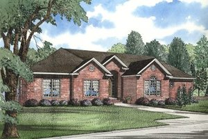 Ranch Exterior - Front Elevation Plan #17-1047