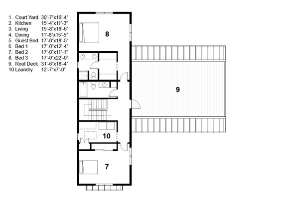 Traditional Floor Plan - Upper Floor Plan Plan #497-41