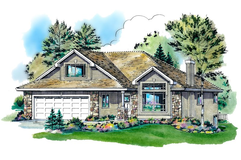 House Blueprint - Traditional Exterior - Front Elevation Plan #18-1003