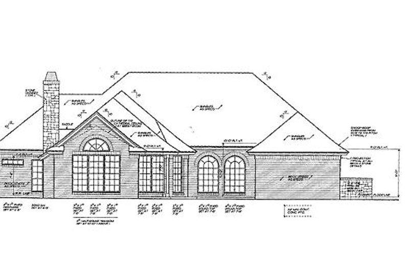European Exterior - Rear Elevation Plan #310-831 - Houseplans.com