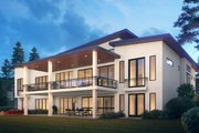 Contemporary Style House Plan - 5 Beds 5 Baths 6080 Sq/Ft Plan #1066-112 Exterior - Other Elevation
