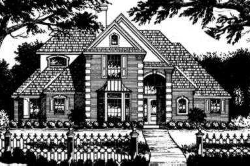 European Exterior - Front Elevation Plan #40-259 - Houseplans.com