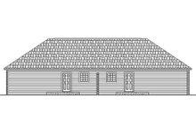 Home Plan Design - Ranch Exterior - Rear Elevation Plan #21-104