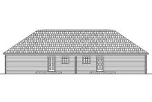 Home Plan - Ranch Exterior - Rear Elevation Plan #21-104
