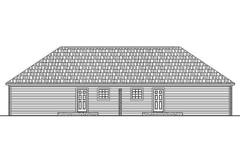 Ranch Exterior - Rear Elevation Plan #21-104 - Houseplans.com