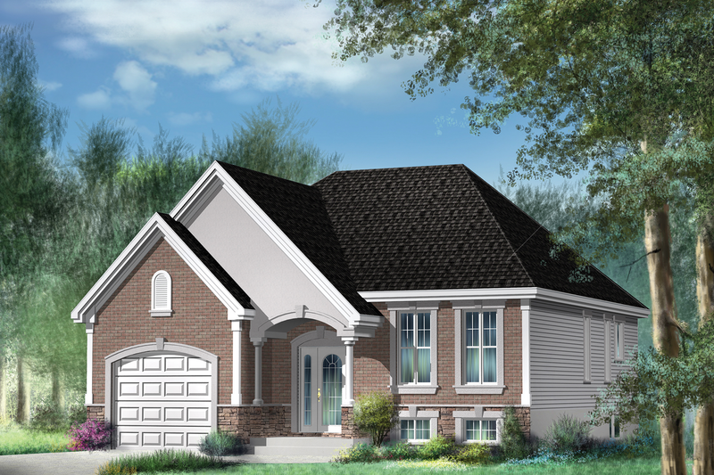 Traditional Style House Plan - 2 Beds 1 Baths 1099 Sq/Ft Plan #25-4362 Exterior - Front Elevation