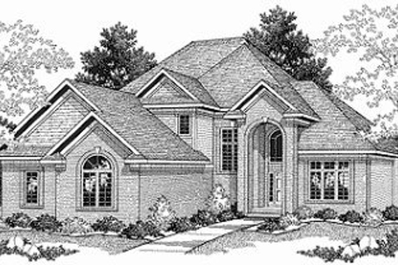 Traditional Exterior - Front Elevation Plan #70-395 - Houseplans.com
