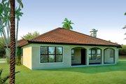Mediterranean Style House Plan - 3 Beds 2 Baths 1845 Sq/Ft Plan #80-113 Exterior - Rear Elevation