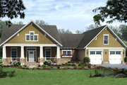 Craftsman Style House Plan - 3 Beds 2.5 Baths 1900 Sq/Ft Plan #21-346 Exterior - Front Elevation