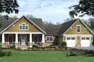 Craftsman Exterior - Front Elevation Plan #21-346
