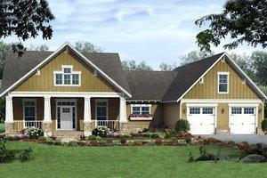 Craftsman Exterior - Front Elevation Plan #21-346