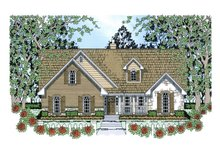 Country Exterior - Front Elevation Plan #42-387