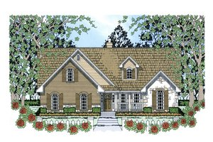 House Design - Country Exterior - Front Elevation Plan #42-387