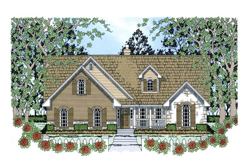 Country Exterior - Front Elevation Plan #42-387 - Houseplans.com